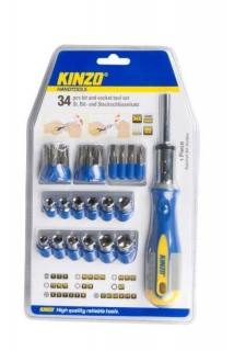 KINZO - set bitů a hlavic 34ks, 54200